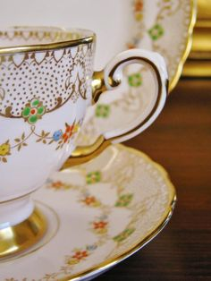 Pink Gold 1940'S Tuscan England Fine Bone China Trio High TEA Vintage Luxe | eBay