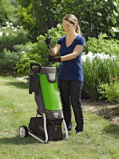 Wood Chipper | GreenWorks Electric Garden Chipper | Gardener's Supply gardners.com