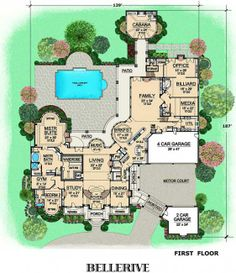 Estate Home Plan First Floor