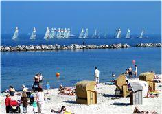 The beach I grew up on in Kiel, Germany