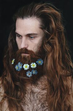 Crazy Trend Alert! Check Out These Flower Encrusted Beards!