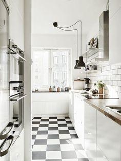 60 Fotos de decoração com piso xadrez