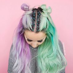 Start your glitter transformation from the top -- with glitter roots that is