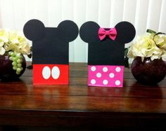 10ct  5 Minnie mouse bags & 5 Mickey mouse bags PARTY FAVORS loot bags birthday party 3d bow