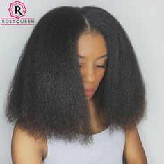 Kinky Straight Lace Frontal Human Hair Wigs With Baby Hair Pre-Plucked Coarse Yaki Full Lace Human Hair Wigs Black Women