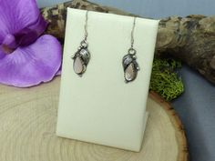 Annie Chapo Navajo Sterling Silver & Pink Mother of Pearl Dangle Earrings!! #AnnieChapo