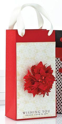 Poinsettia Gift Bag by @Vanessa Menhorn