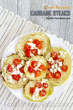 Oven Roasted Cabbage Steaks | FoodForYourGood.com #cabbage_steaks #oven_roasted