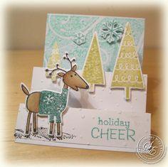 StitchyStamper: Reindeer Christmas Card Set........