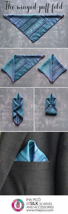 BlackDot: Men's Fashion: How to Fold a Pocket Square #mensaccessorieswallet