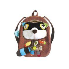 Eco Snoopers Plush Backpack Raccoon