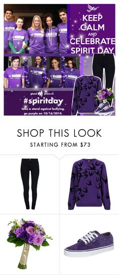 """""""#spiritday Stand Up Against Bullying!"""" by chey-love ❤ liked on Polyvore featuring STELLA McCARTNEY, McQ by Alexander McQueen and Vans"""