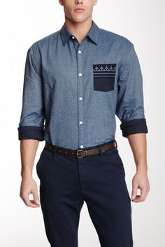 Bandana Pocket Long Sleeve Shirt