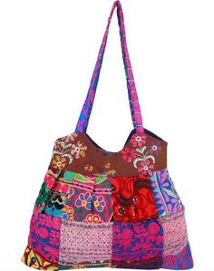 Life's Mosaic Embroidered Patchwork Bag at The Hunger Site. Funds 50 bowls of food for people in need. $22.95