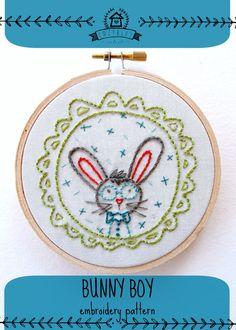 BUNNY BOY - pdf embroidery pattern on Etsy, $4.00