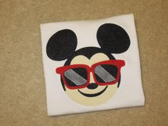 MiCKeY MouSe Sunglasses EMoJi Custom Boutique T SHIRT Tee HoLiDaY Vacation by EnchantedStitches528 on Etsy