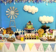ZUKATE: FIESTA DE LA GRANJA PARA MORA Kids Party Planner, Farm Party, Ideas Para Fiestas, Animal Birthday, 2nd Birthday Parties, Birthday Decorations, First Birthdays, Baby Shower, Projects