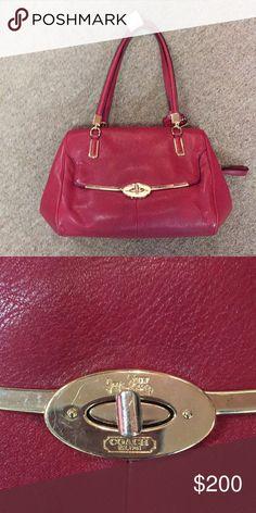 Red coach handbag Gorgeous habdbag Coach Bags Satchels