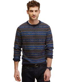 42644a9a7762f Nautica Classic Navy Fair Isle Sweater   Reviews - Sweaters - Men - Macy s