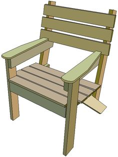 This garden chair is an extremely simple design and is probably one ...