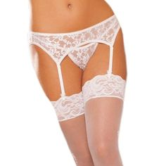 Sexy White Lace Outfit *PLEASE READ* This is NOT Victoria's Secret Branded* it is under there just to help people find the item. 100% BRAND NEW & Never worn. Comes packaged & orders ship the SAME DAY. ONE SIZE (XS-M) Victoria's Secret Intimates & Sleepwear