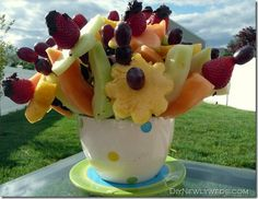 DIY Edible Fruit Arrangement Bouquet
