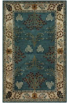 This is high mission style -- great colors for your furniture and living/kitchen space -- also would work ok for family room. Grasse Area Rug