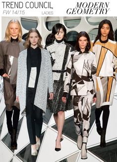 Key styles and themes FW 14/15 MODERN GEOMETRY