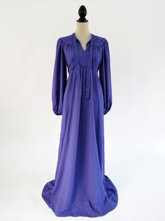 Thea's vintage - OSSIE CLARK PURPLE DRESS