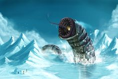 Ice worm by Joey-B.deviantart.com on @deviantART