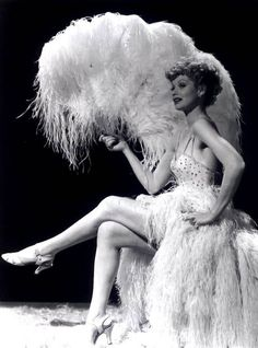 We love Lucy. Lucille Ball as a showgirl