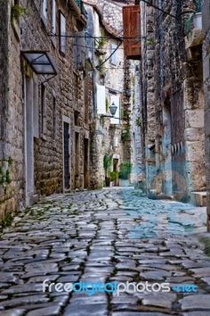 Most Beautiful Places in Croatia: Stone street in Trogir From elegant islands and coastal towns to dreamy parks and sleepy medieval villages, these are the most beautiful places to visit in Croatia. Beautiful Streets, Beautiful Places In The World, Beautiful Places To Visit, Places Around The World, Oh The Places You'll Go, Places To Travel, Around The Worlds, Dubrovnik, Trogir Croatia