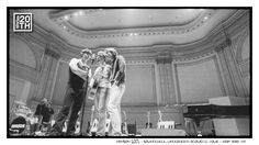 Photo 231 of 365  HANSON 2003 - Soundcheck, Underneath Acoustic Tour - New York NY    We are at Carnegie Hall in this shot during soundcheck for our Underneath Acoustic show on that iconic stage. Of all the artists who have performed there over the years, who would you most love to see live … HANSON not included.    #Hanson #Hanson20th