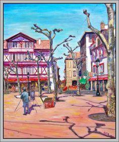 Le peintre par Aymeric NOA artiste peintre Place Louis XIV à Saint-Jean-de-Luz au Pays basque