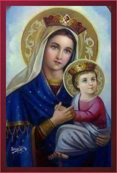 Jesus Mother, Blessed Mother Mary, Blessed Virgin Mary, Religious Pictures, Jesus Pictures, Religious Art, Mother Mary Images, Images Of Mary, Hail Holy Queen