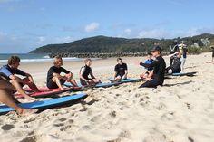 Surf lesson @ Noosa Beach