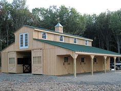 Résultat d'images pour Shipping Container Barn Plans Horse Barn Plans, Horse Barns, Horse Stalls, Barn With Living Quarters, Barn Kits, Goat Barn, Barn Shop, Barn Apartment, Casas Containers