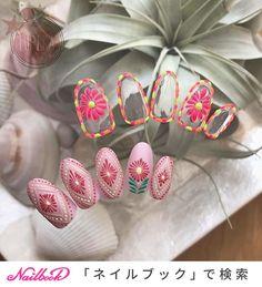 Almond Nails Designs Summer, Shellac Nails, Flower Nails, Nail Arts, Gundam, Nail Designs, Pastel, Tips, Pretty