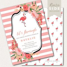 4e07cd77b395 Flamingo Party Invitation Bridal Shower by LemonadeMoments
