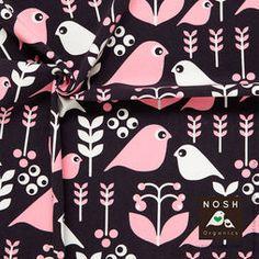 Nosh Organics Graphite/Powder Pink Good Morning Organic Cotton Knit