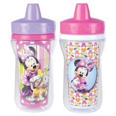 """Disney Baby Minnie Mouse Insulated Sippy Cup with One Piece Lid - 9 oz.- 2 Pack - TOMY - Babies """"R"""" Us"""