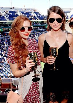 Holland Roden and Shelley Hennig at the Moet