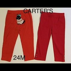 I just discovered this while shopping on Poshmark: GIRLS PAIR OF RED CARTER'S…