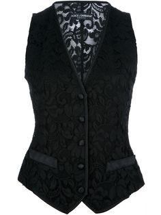 Dolce & Gabbana Floral Lace Waistcoat - Julian Fashion - Farfetch.com