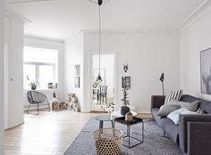 Black and white interior. #livingroom #scandinavian