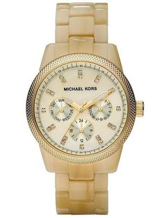 want: michael kors horn watch and I don't even wear watches! or like michael kors! Jet Set Michael Kors, Michael Kors Watch, Mk Watch, No Rain, Mk Bags, Swagg, Bling Bling, Bracelet Watch, Ladies Bracelet