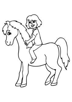 41 meilleures images du tableau coloriage cheval coloring pages coloring book et coloring books - Dessin cavaliere ...