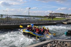 The Kanupark Markkleeberg is located on the southeast shore of Lake Markkleeberg south of Leipzig. In 2015, the white-water rafting facility was voted among Germany's 100 most popular tourist attractions.  Photo: Kanupark Markkleeberg