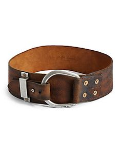 Ralph Lauren Blue Label Contoured Leather Belt