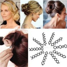 20pcs Spiral Spin Screw Barrette Hair Clip Twist Barrette Black New Hairpins Invisible Hair Band Hairdressing Accessories